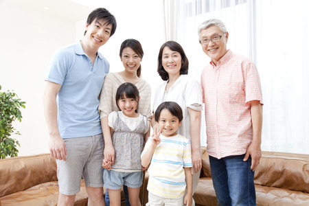 Photo for Of large families smile - Royalty Free Image