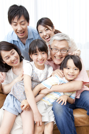 Photo pour Of large families smile - image libre de droit