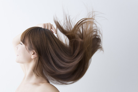 Photo for Streaming hair women - Royalty Free Image