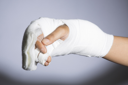 Hand wound bandages