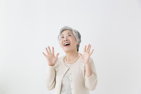 Photo for Senior woman surprised - Royalty Free Image