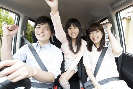 Photo pour The parent and child leave to drive - image libre de droit