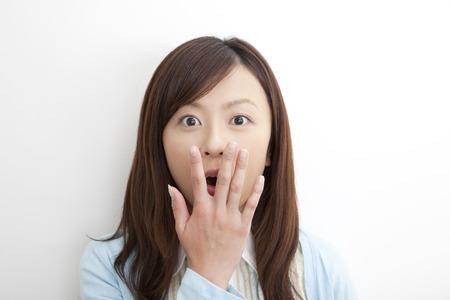 Foto de Woman surprised - Imagen libre de derechos