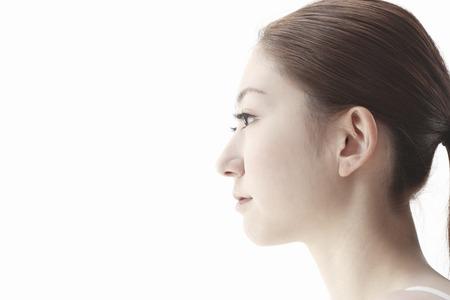 Foto de The profile of woman - Imagen libre de derechos