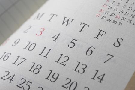 Photo pour Schedule table - image libre de droit