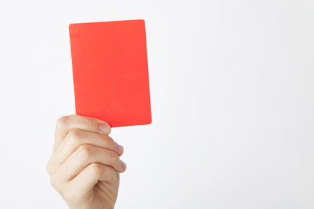 Photo pour Hand to issue a red card - image libre de droit