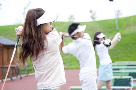 Photo for Women in golf practice - Royalty Free Image