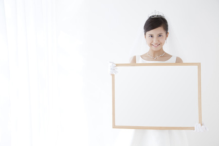 Photo for Bride with a message board - Royalty Free Image