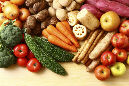 Photo pour Vegetables and fruits - image libre de droit