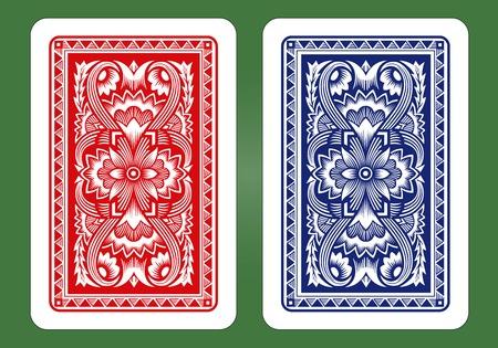 Illustration pour Playing Card Back Designs   - image libre de droit