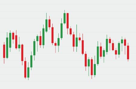 Illustration pour Candlestick stock exchange background vector - image libre de droit