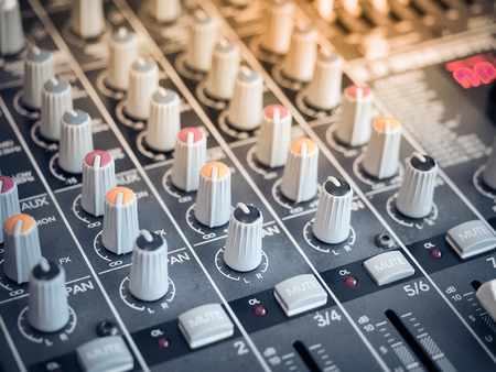 Photo for Sound equalizer mixing. Professional studio equipment for sound mixing. Music studio image. - Royalty Free Image