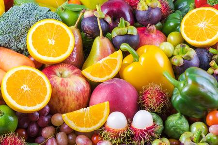 Photo for Nutritious fruit and vegetables organic for healthy - Royalty Free Image