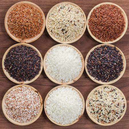 Foto de Collection of thai's premium rice for healthy life style - Imagen libre de derechos