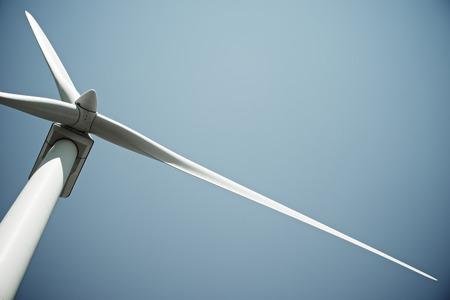 Photo pour Windmill for electric power production, Burgos Province, Castilla Leon, Spain. - image libre de droit