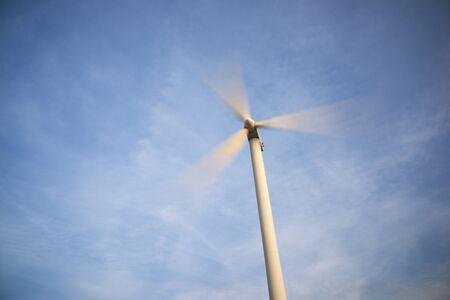 Foto de Wind turbine for electric power production, Zaragoza Province, Aragon in Spain. - Imagen libre de derechos