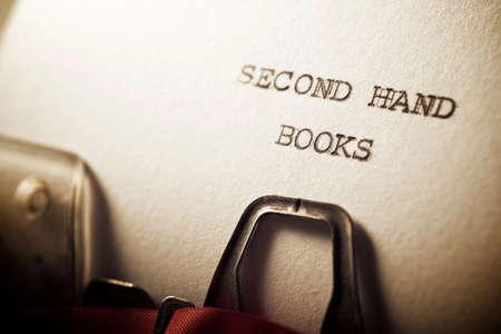 Foto de Second hand books written with a typewriter. - Imagen libre de derechos