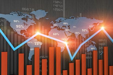 Photo pour Financial business chart and economic development - image libre de droit