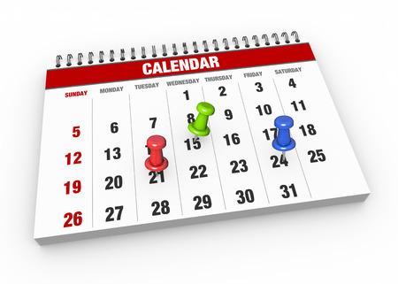 Photo pour Calendar with check mark as concept - image libre de droit