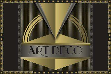 Ilustración de Art deco geometric vintage  frame  - Imagen libre de derechos