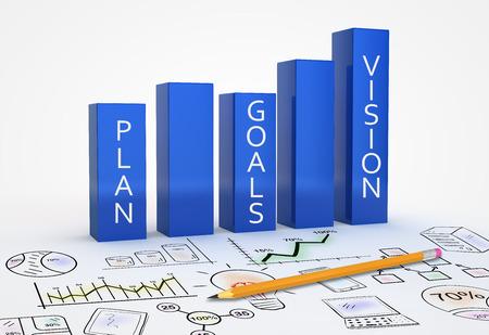 Foto für Business strategy vision as a concept - Lizenzfreies Bild