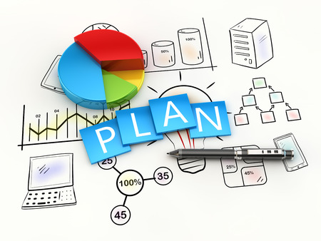 Foto de Finance and management planning as a concept - Imagen libre de derechos