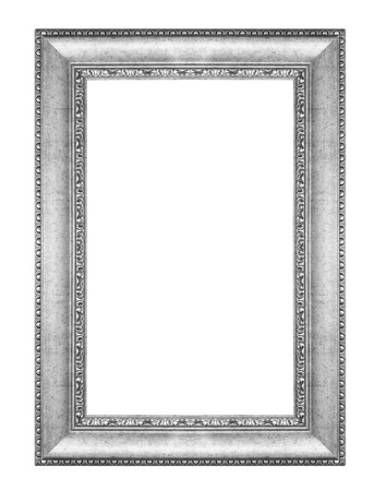 Photo pour old antique vintage silver frames. Isolated on white background - image libre de droit