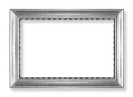 Foto de silver picture frames. Isolated on white background - Imagen libre de derechos