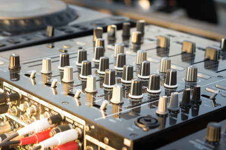 Photo for Sound mixer equalizer console,music equipment. - Royalty Free Image