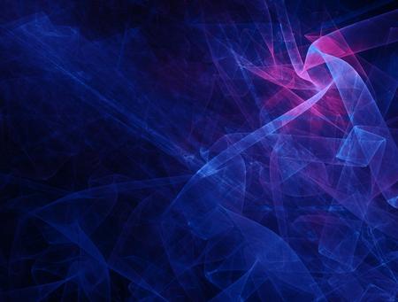 Foto de The Digital Scarlet Flower in Blue. Chaotic meshes form a beautiful abstract plant. Composite fractal background. - Imagen libre de derechos