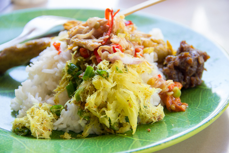 Photo for A plate of Nasi Campur, traditional Balinese cuisine - Royalty Free Image