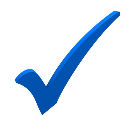 Photo for blue check mark on white background - Royalty Free Image