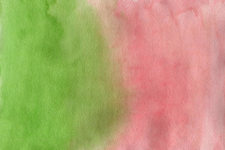 Photo for Abstract watercolor background. Pink and green watercolour texture gradient. Green and Salmon gradient background. - Royalty Free Image