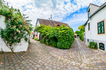 Foto per Typical cobbled street of charming little town Szentendre, near Budapest, Hungary. - Immagine Royalty Free