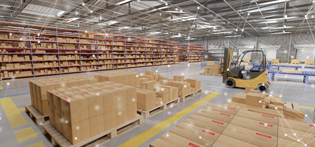 Photo pour View of warehouse goods stock - image libre de droit
