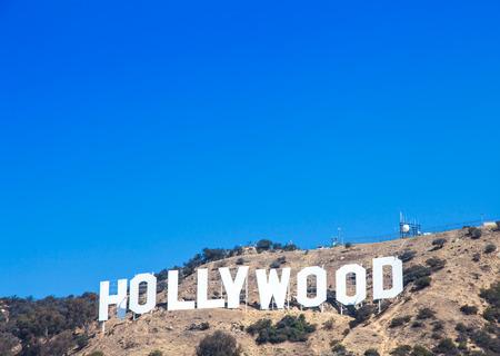 Foto de Famous Hollywood landmark in Los Angeles, California - Imagen libre de derechos