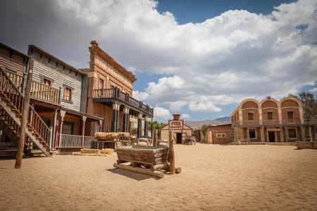 Foto de Detail of an old Far West village - Imagen libre de derechos