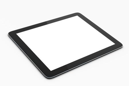 Photo pour digital tablet on white background, mock up - image libre de droit