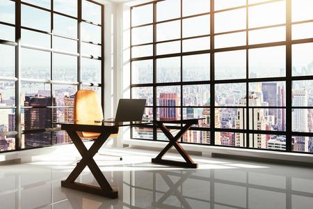 Foto de Contemporary workplace in a loft interior - Imagen libre de derechos