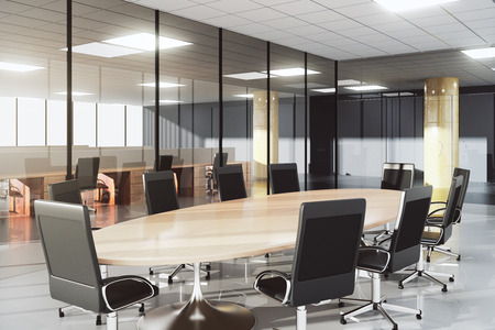 Photo for Modern conference room in a sunny office - Royalty Free Image