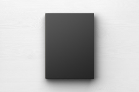 Photo pour Black book cover, mock up - image libre de droit