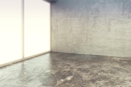 Photo pour Empty loft style room with concrete floor and wall - image libre de droit