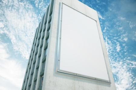Foto de Large billboard on a building wall, mock up - Imagen libre de derechos