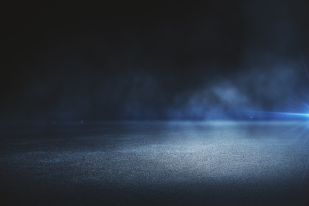 Foto per Creative blurry outdoor asphalt background with mist  - Immagine Royalty Free