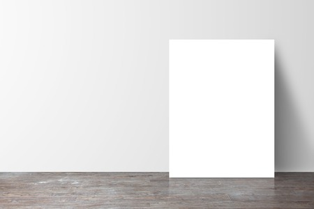 Photo pour poster standing next to a white wall - image libre de droit