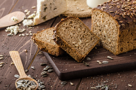 Photo for Whole wheat bread with seeds - Royalty Free Image