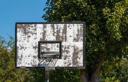 old basketball ring outside