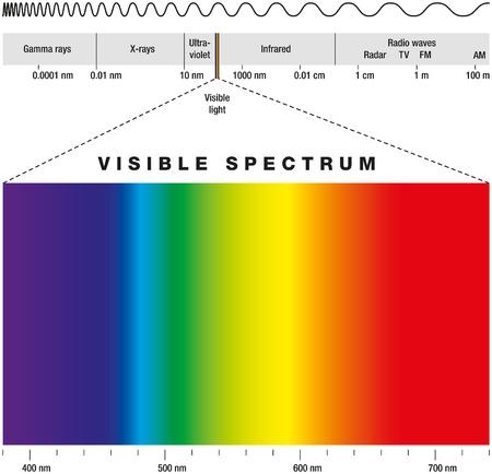 Illustration pour Electromagnetic Spectrum - image libre de droit