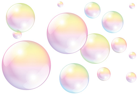 Ilustración de Soap bubbles - isolated vector illustration on white background. - Imagen libre de derechos