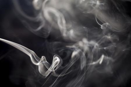 Foto de Smoke on black background. - Imagen libre de derechos